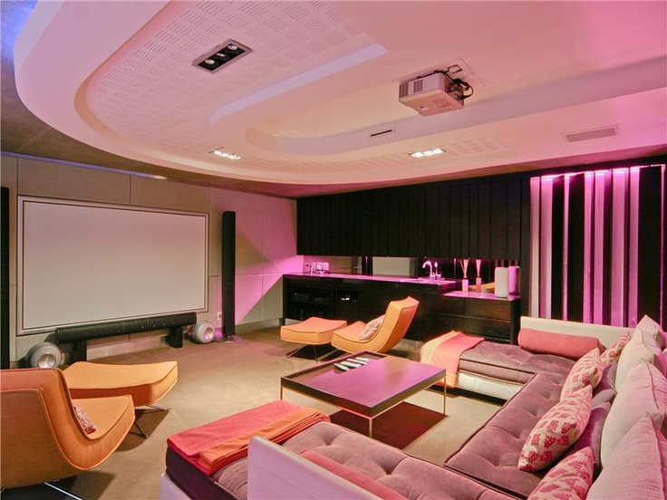 Contemporary Media Room in Johannesburg South Africa