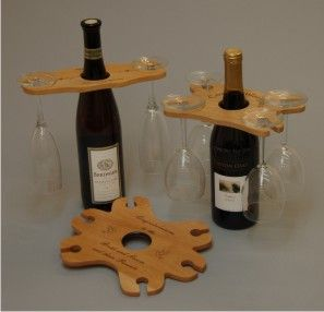 Wine bottle and cup holder!