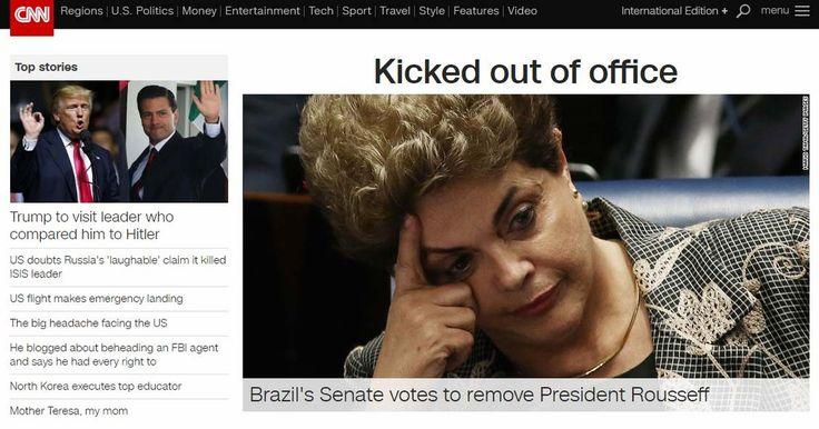 Imprensa internacional repercute impeachment de Dilma Rousseff