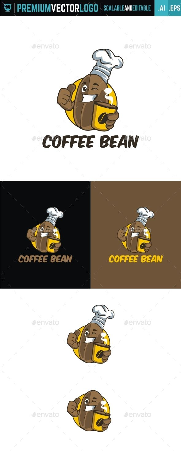 Coffee Bean Logo Template AI Illustrator. Download here: http://graphicriver.net/item/coffee-bean/15561171?ref=ksioks