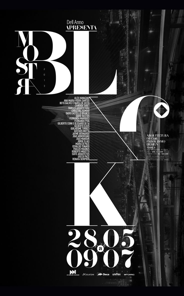 Poster design typography - Find This Pin And More On Typography By Ybussiere