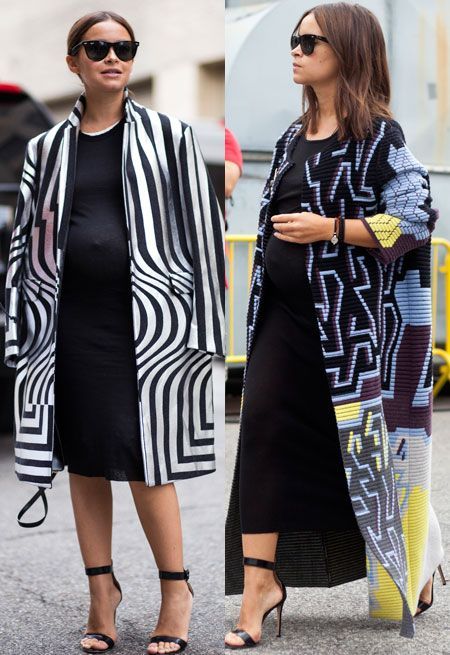 Pregnancy style tips from the street style set - Telegraph