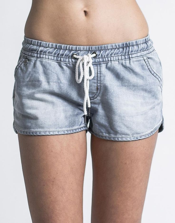 Women's Shorts / Skirts - Denim Lounge Short by All About Eve - Edge Clothing