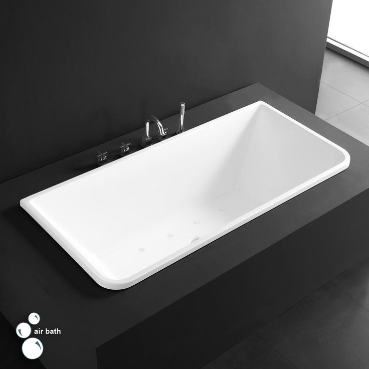 """59"""" Claire Acrylic Drop-In Air Tub - White"""