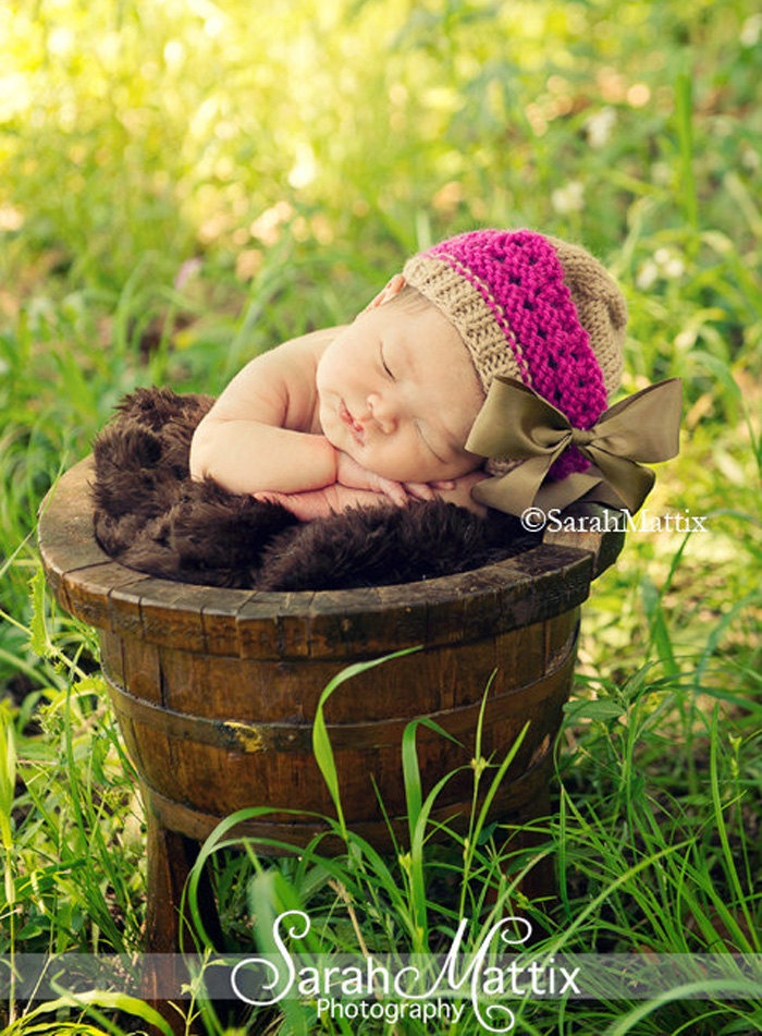 Newborn Knit Hat Baby Girl Hats Baby Beret Newborn