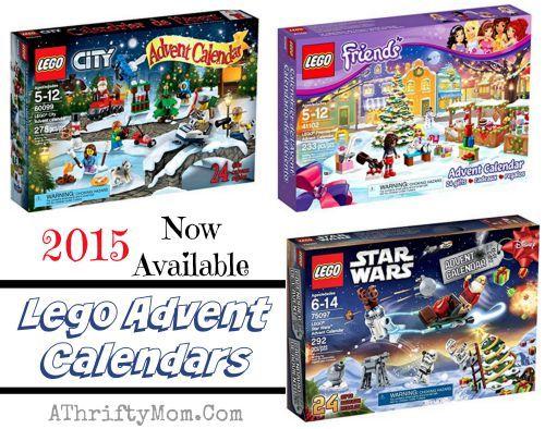 Lego Advent Calendar Star Wars theme, Lego City, Lego Friends Holiday, order now for the 2015 season, Christmas advent calendar