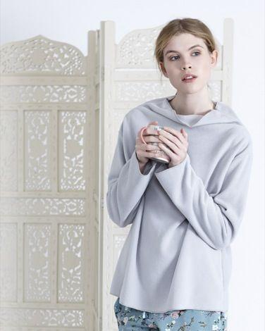 GreyCarolyn Donnelly Eclectic Zen Fleece Top