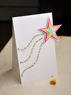 layered star with sentiment trail