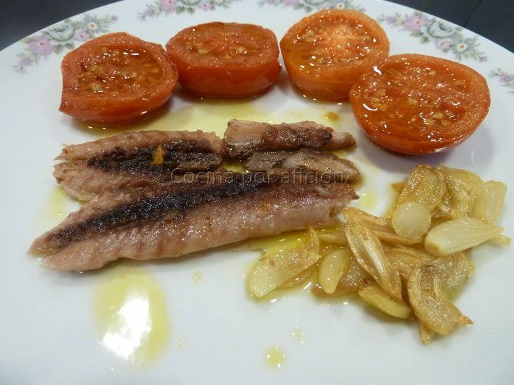Cocina por afición: Sardinas de bota con tomates de penjar (colgar)