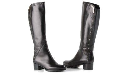 Le Pepe black studded leather boots