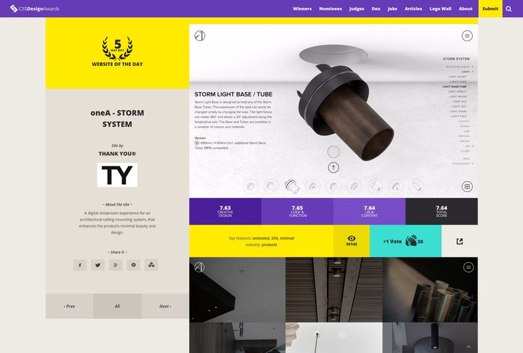 Our new website by THANK YOU® was announced website of the day by CSSDesignAwards. Thanks to all of you who voted!