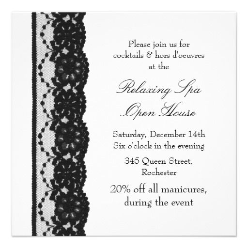 20 best open house business invitations images on pinterest open house white french lace invites stopboris Image collections