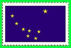 © 1999 WriteLine. Alaska flag