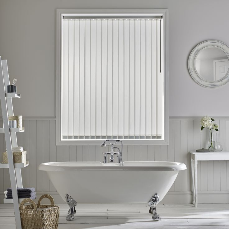 Ribbons Vertical Blind By Style Studio. Bathroom Blind. White Decor.  Contemporary Home Decor