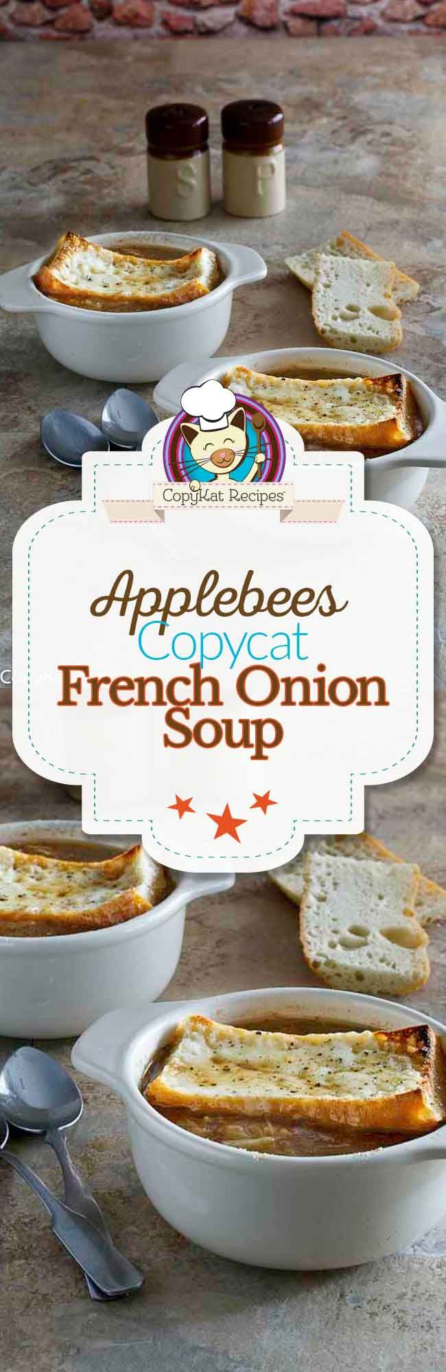 Recreate Applebees French Onion Soup, you will be amazed at how easy it is to make this soup.