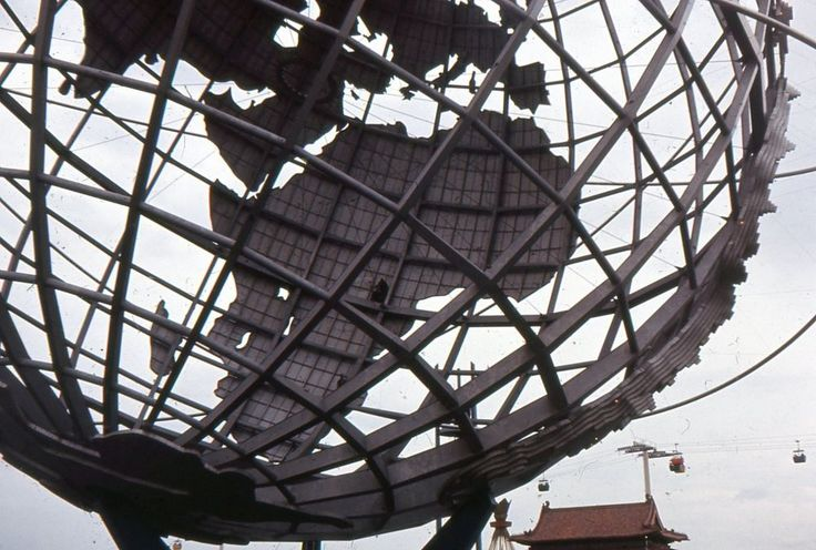 35mm Slide Unisphere New York Worlds Fair NYWF 1964