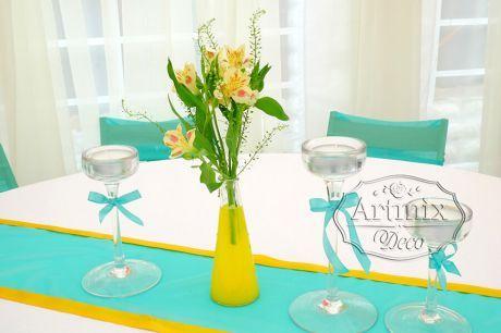 Декор для свадьбы в желтом цвете