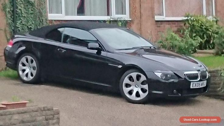 Bmw 645ci E64 Convertible Black With Black Leather Black Roof