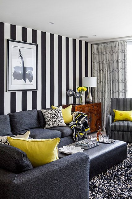 7 Best Images About Black White Stripe Wallpaper On