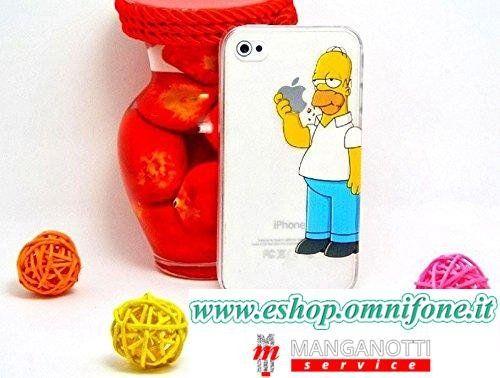 Cover-iPhone-6-Plus-Trasparente-con-Homer-Simpson-che-mangia-la-mela-0