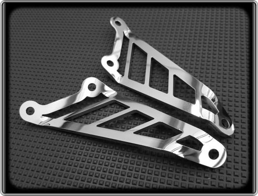 Exhaust Hangers for APRILIA RSV MILLE-R 1000-2006 to 2010 Polished Brackets