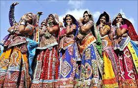 Gujarati ladies put on traditional dress like gangra choli.