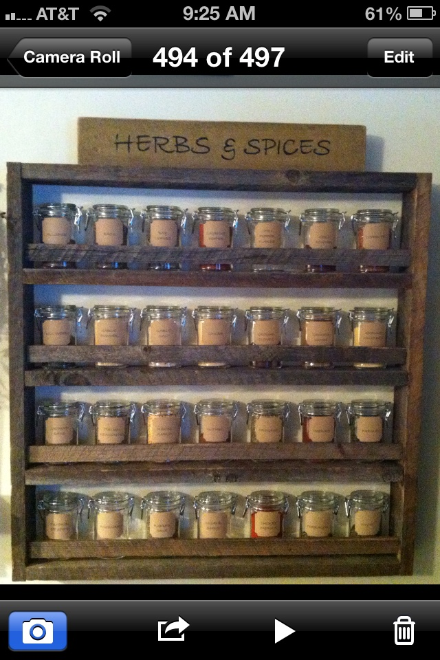 Homemade spice rack :)