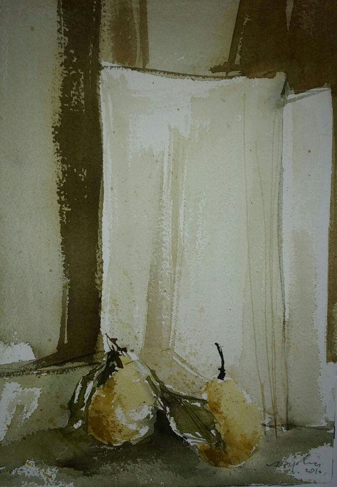 Natura morta - Acquerello di Sergio Bigolin - 2010
