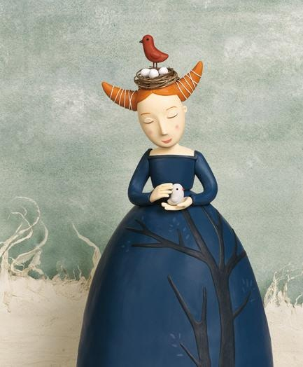 princesa de plastilina: Irmagruenholz, Birds Of Paradis, Irma Gruenholz, Clay Sculpture, Clay Creations, Polymer Clay, Art Dolls, Clay Art, Clay Illustrations