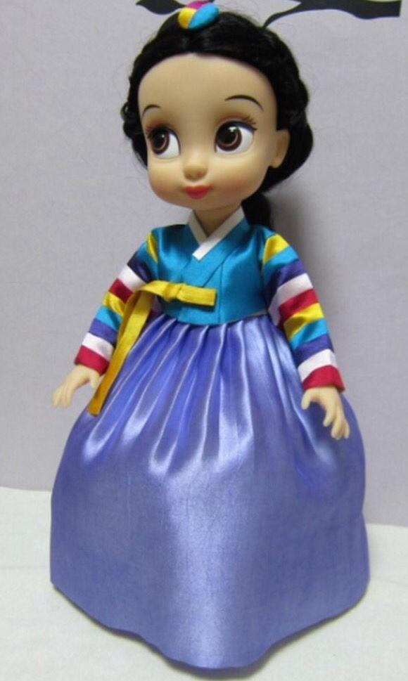 Disney Animators Collection Dolls • Doll's Hanbok. 한복 韓服 (Hanbok : Korean traditional clothes)
