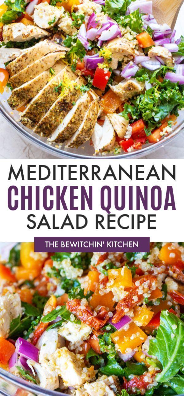 Mediterranean Chicken Quinoa Salad Chicken Quinoa Salad Chicken Salad Recipes Quinoa Salad Recipes