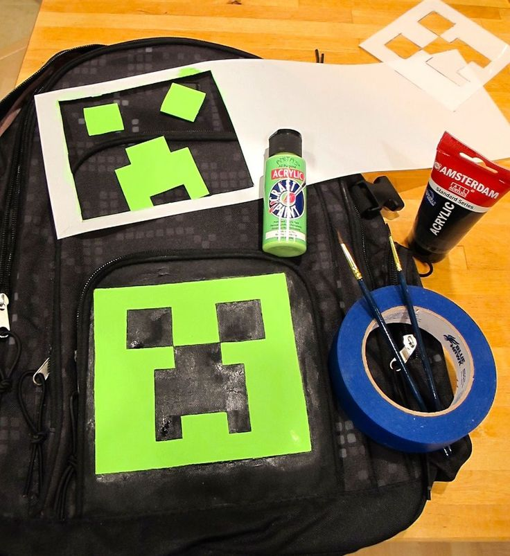 Minecraft Creeper Backpack - diy