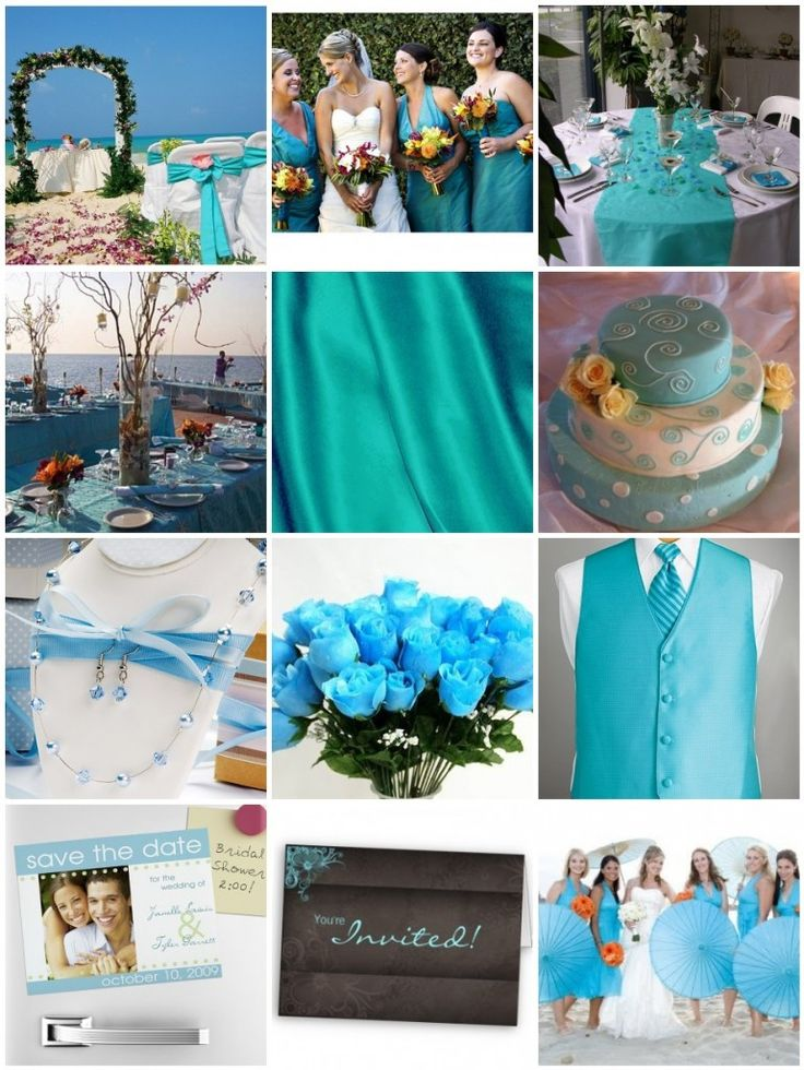 As you might have already been noticing, the hott color for 2010 weddings is TURQUOISE! It is such a fun and vibrant color and will be sure to add some spice to your wedding! The turquoise color goes great with bright oranges and deep browns. I've actually been noticing how surprisingly well it looks with …