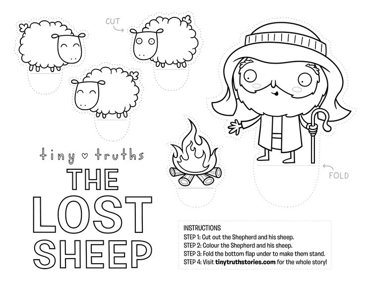 Lovely craft for teaching The Lost Sheep. #Biblecraft #