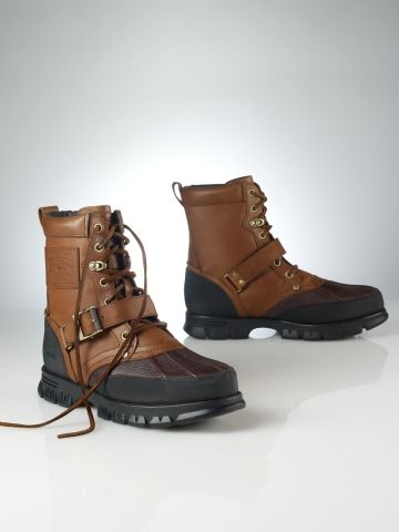 Shoes: Ralph Lauren Polo Tenard Leather Boot...need a pair of these to walk my little dog in winter weather...