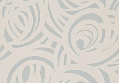 Harlequin Momentum Wallpaper - Vortex - Silver and Concrete - Bryella