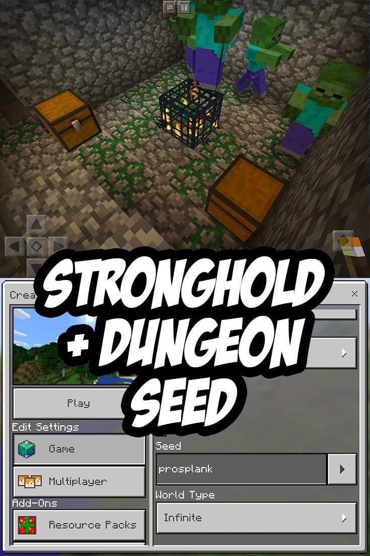 Minecraft PE/Bedrock Stronghold Seed:prosplank #seeds #seeds