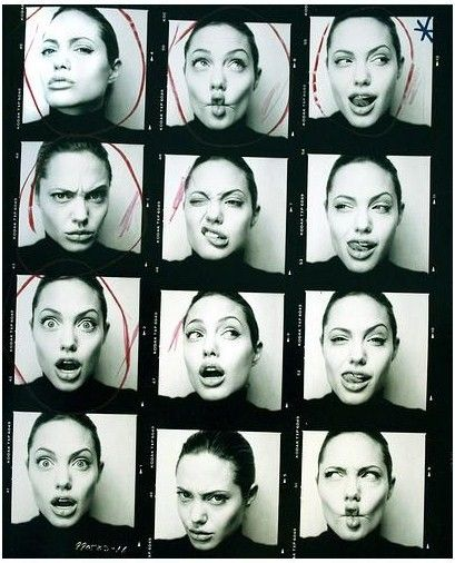 Artist Reference | Portrait | Character Inspiration |Angelina Jolie expressions