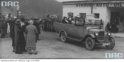 Bus station in Zakopane, 1933.