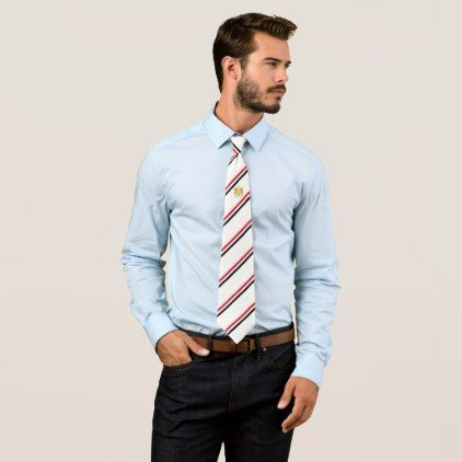 Egypt stripes flag tie - accessories accessory gift idea stylish unique custom
