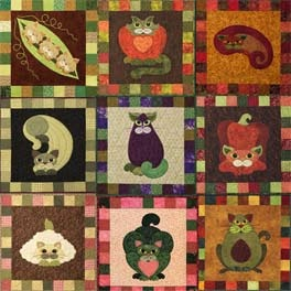 Adorable Cat Patterns For A Mini Wall Hanging Or Quilt