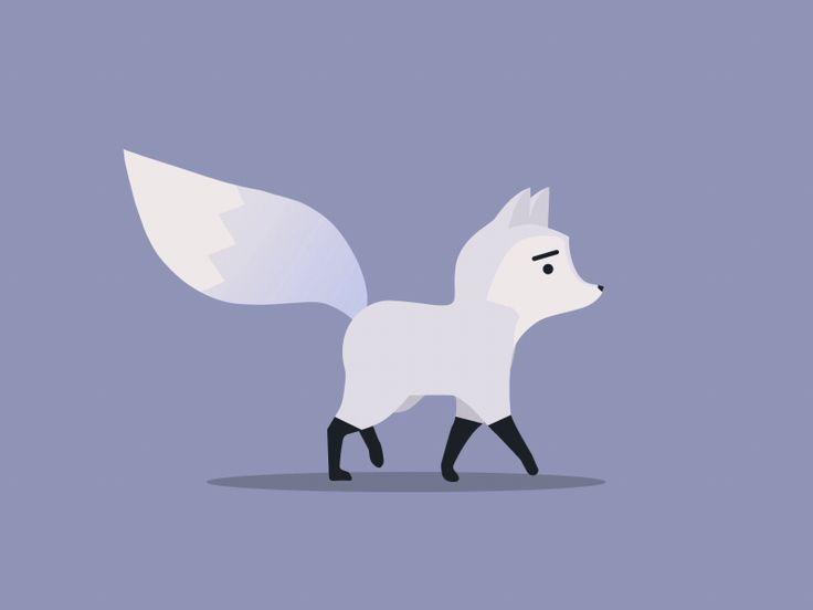 Snowfox walk cycle by Jonathan Dahl #Design Popular #Dribbble #shots #Animation