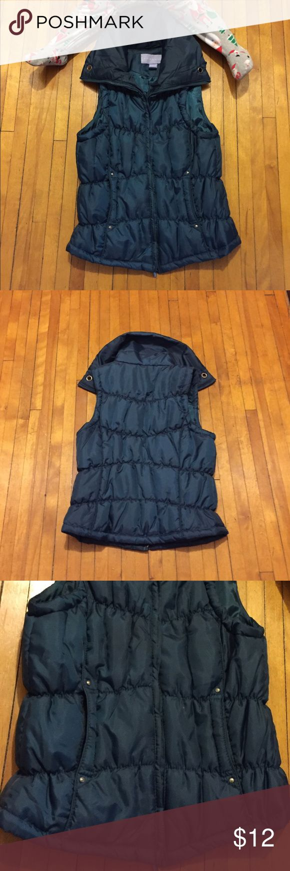 Laura Scott Outdoor Vest Color Blue green/ teal. New without tag. Never worn. No damage. In excellent condition. Laura Scott Jackets & Coats Vests