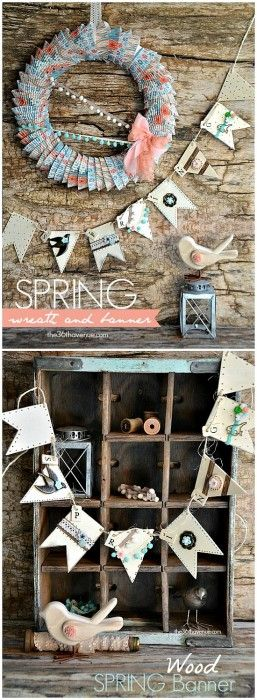 The 36th AVENUE | DIY Banner and Wreath Tutorial