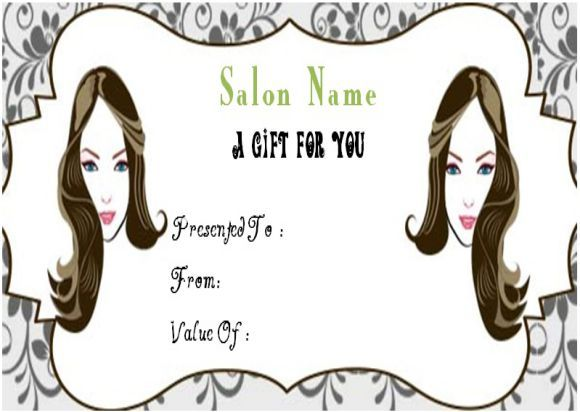 23 best salon gift certificate templates images on pinterest printable salon gift certificate templates to attract customers demplates yelopaper Choice Image