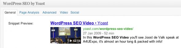 Video SEO module for the WordPress SEO plugin