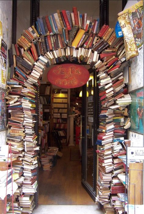 Le Bal des Ardents bookshop, Lyon, France. Someday, I will go here.Libraries, The Doors, Book Stores, Book Arches,  Confectionary, Bookstores, France, Places,  Candies Stores