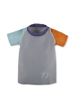 71% OFF Hang Ten Gold Boy's Super-Stoker Rash Guard (Grey)