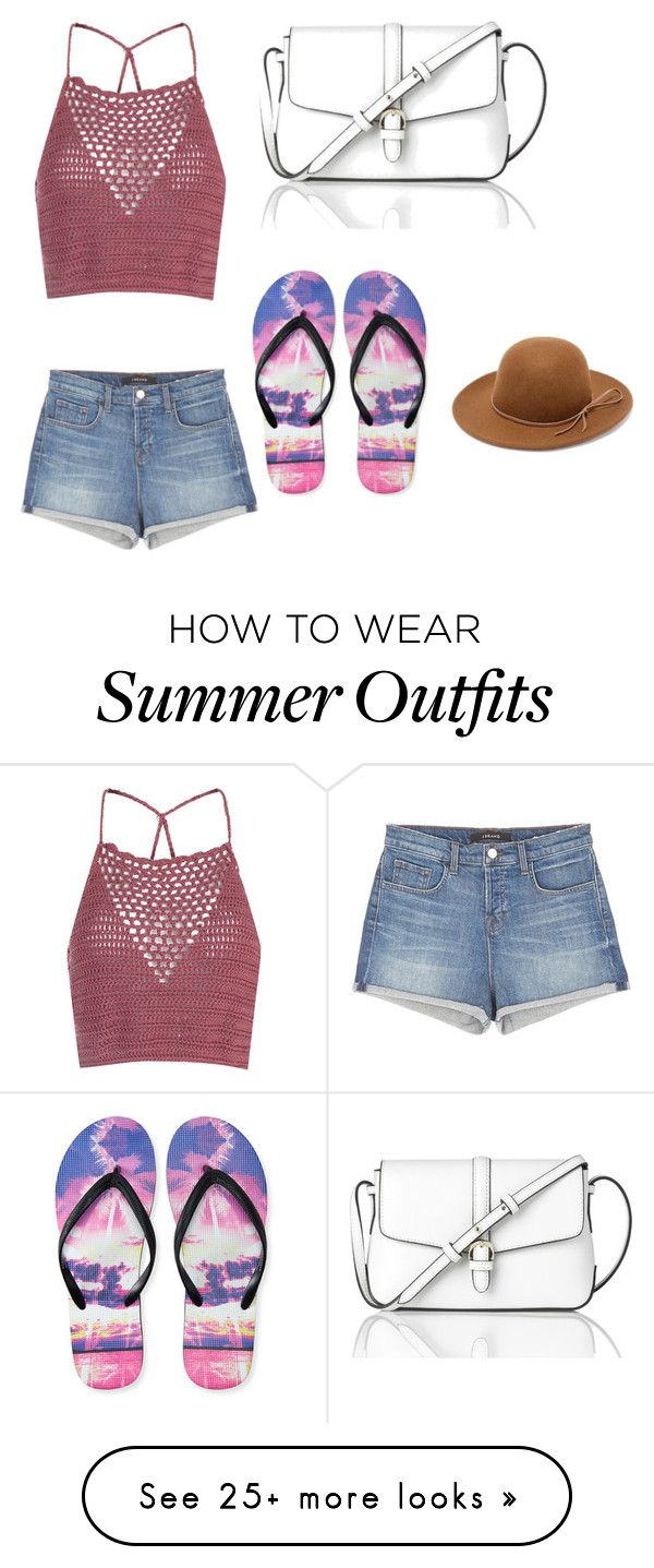 """""""Summer outfit"""" by blackwidow23 on Polyvore featuring Glamorous, J Brand, Aéropostale, L.K.Bennett and RHYTHM"""