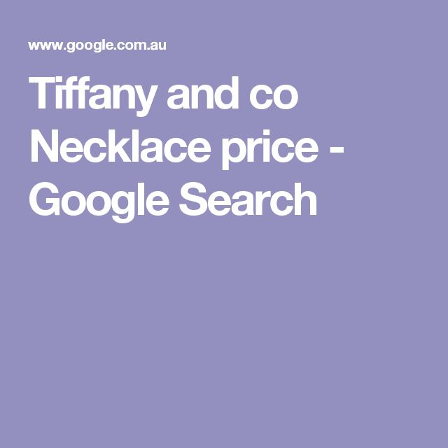 Tiffany and co Necklace price - Google Search